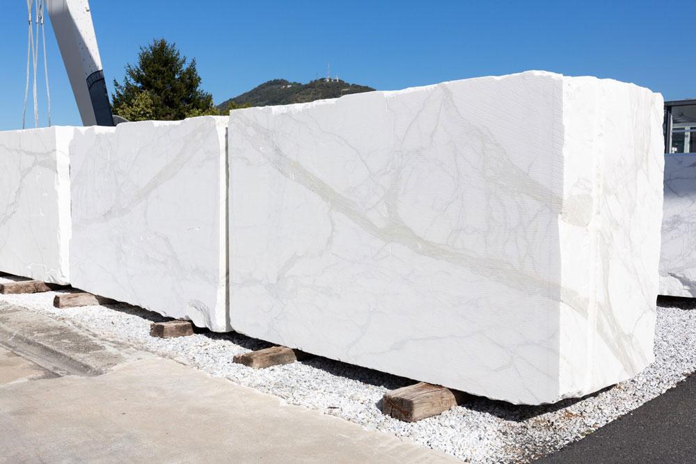 collaudo blocchi di marmo